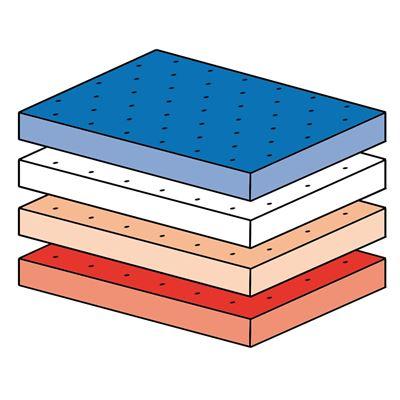 Espuma Hoja Plastazote 3mm material Azul
